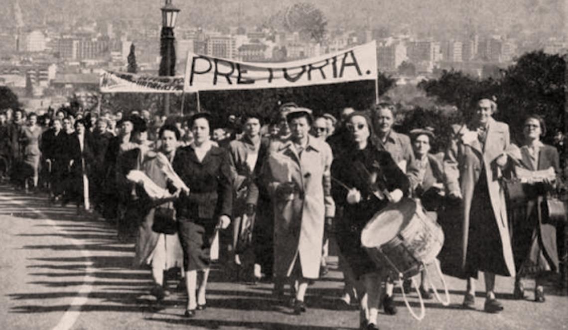 Women march in Pretoria